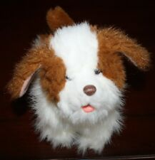 """FurReal Friends 8"""" Brown & White Get Up Go Go Dog Puppy Works 2010 Moves Sounds"""
