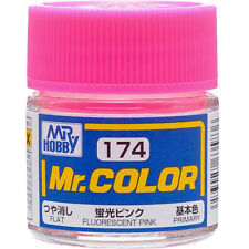 GSI CREOS GUNZE MR HOBBY Color C174 Fluorescent Pink LACQUER PAINT 10ml MODEL