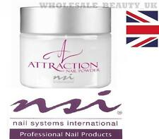 NSI Attraction Acrylic Nail Powder  TOTALLY CLEAR 40g  False tips  Brand New Pot