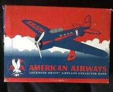 Vintage Spec Cast Diecast 1996 Lockheed Orion Airplane Bank American Airways