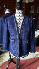 Veste tweed bleu marine - Zara Woman - T36