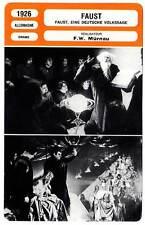FICHE CINEMA : FAUST - Ekman,Jannings,Murnau 1926