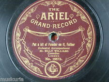 78rpm BILLY WILLIAMS the colliers / put a bit of powder on it father ARIEL 1887