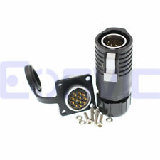 Lp20 Connector 2 3 4 5 6 7 8 9 10 12 Pin Waterproof 500V 25A Panel Socket Plug