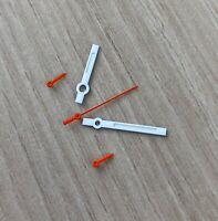 Chronographen Zeigersatz Weiss/Orange Retro für ETA Valjoux 7733 NOS Style