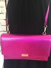 KATE SPADE NWT WINNI LAUREL WAY BAJA ROSE CROSSBODY WALLET PURSE METALLIC CLUTCH