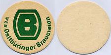 Bierdeckel VEB Ostthüringer Brauereien, DDR
