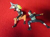 """2002 Iruka & Naruto & Hiruzen & Kakashi & Rock Lee 2.5"""" Action Figure Shippuden"""