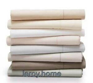 Hudson Park 600TC Cotton Sateen Solid King Fitted Sheet $185 Blush