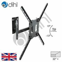 "Dihl Swivel Tilt Wall Mount Bracket for 32 37 40 42 46 50 55 60 62 65"" LED 3D TV"