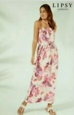 New LIPSY White Tiger Lilly Tropical Print Maxi Summer Dress Size 10