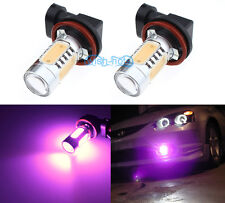 2Pcs H16 7.5W Bright Pink Fog Light Projector Bulbs LED DRL Replacement Lamp