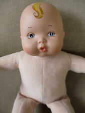 "2010 Madame Alexander Baby Doll Plush/ Vinyl Head ,Pacifier, Squeaker Sound 11"""