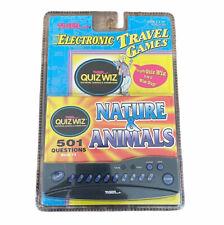 NEW Tiger Electronic Travel Games Quiz Wiz Nature & Animals Sealed 1996 Vintage