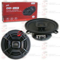 POLK AUDIO 5.25-INCH 2-WAY CAR AUDIO BOAT MARINE COAXIAL SPEAKERS PAIR 5-1/4""