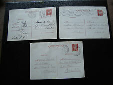 FRANCE - 3 cartes entier (cy2) french