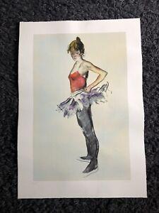 rare DONALD HAMILTON FRASER RA Ltd Ed SCREENPRINT Dancer adjusting Tutu 16/295