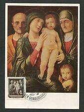 DDR MK 1957 586 GEMÄLDE HEILIGE FAMILIE MAXIMUMKARTE MAXIMUM CARD MC CM d5101