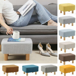 Small Footstool Foot Rest Stool Pouffe Ottoman For Living Room Removable Cover