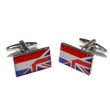 Union Jack UK British & Netherlands Dutch Flag Party CUFFLINKS BIRTHDAY PRESENT