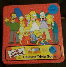 Simpson Ultimate Trivia Board Game & tin - 2002 Cardinal - fox - free shipping