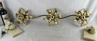 Mid century Brass flower wall Ceiling lamp sconce by massive 1970  Willy Daro