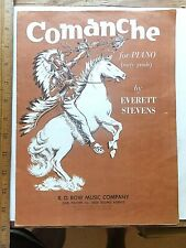 1956 Comanche for Piano Sheet Music by Everett Stevens