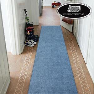 Moderne DICK INV BILLIG LÄUFER FLUR blau Korridor Breite 50-150 cm TEPPICHE