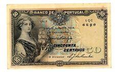 Portugal ... P-112b  ... 50 Centavos ... 1918 ... CH*VF-XF* Signature Variety.
