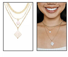 New Trendy Multilayered Dainty Jewelry Chain Pearl Choker Pendant Boho Jewelry