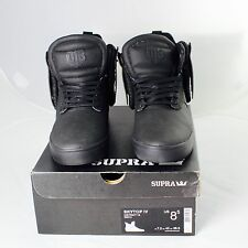 New Supra Men's Skytop IV High Top District 13 Black Sneaker Sz Us 8