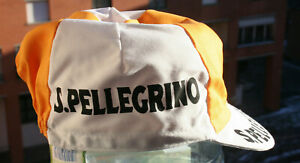 NEW S. PELLEGRINO Vintage Team Cycling Cap - Made in Italy