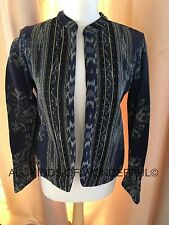 Rabens Saloner Ikat Stripe Jacket Navy Print in S RRP £135 Brand New with Tags