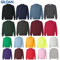 Gildan 1800 Long Sleeve Heavy Blend Crew Neck Men's Pullover Sweatshirt