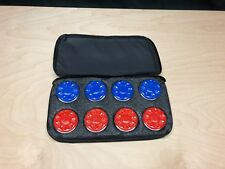 TABLE SHUFFLEBOARD PUCK WEIGHTS ( WATES OR QUOITS) + SOFT CLOTH CARRIER CASE
