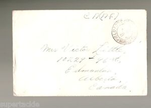 1943 Canada WWII stampless cover, C.A.(A.F.)  Royal Canadian Army Service Corps