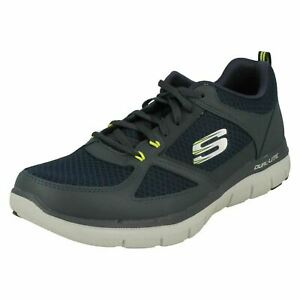 Mens LightWeight Leather Lace Up Casual Memory Foam Skechers : Lindman 52189