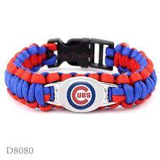 Chicago Cubs Paracord Bracelet Baseball Quality Fast Ship USA Seller