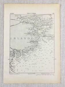 1881 Antique Military Map of Ireland Eire County Cork Kinsale Harbour Irish
