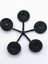 """Lot of 5 Vintage Toy Car Truck 1"""" Diameter Replacement Tires Wheels Parts Marx"""
