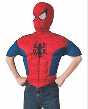 Halloween Costume  Ultimate Spider-Man EVA Child Muscle Chest Shirt and Mask NEW