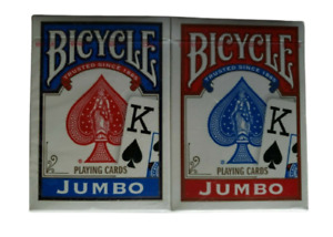 Bicycle Jumbo Playing Cards Two Decks Sealed Games Entertainment Red Blue 2009