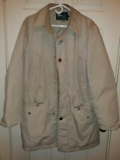 Sears Vintage 40 Reg Beige Goose Down Winter Cargo Coat Parka USA