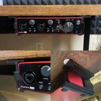 Focusrite Scarlett 2i2 (3rd generation) Desk Mounting Brackets. FREE SHIPPING