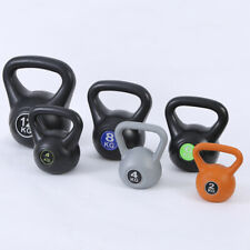KETTLEBELL  WEIGHTS GYM DUMBBELL BARBELL SINGLE ONE IRON BLACK 9~22 lb