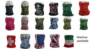 Microfibre Face Covering Neck Tube Snood Scarf 17 designs Fast Free UK delivery