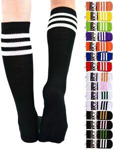 Mato & Hash Comfy Classic 3 Striped Tube Socks MADE IN USA