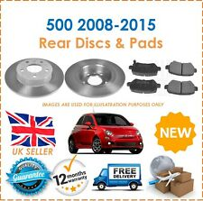For Fiat 500 2008-2015 Two Front Solid 240MM Brake Discs & Brake Pads Set New