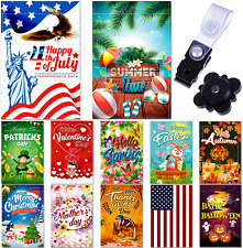 """New listing Seasonal Garden Flag Set Of 12 Pack 12""""X 18"""" For Double-Sided Outdoors Lawn"""