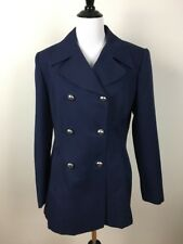 Giorgio Sant Angelo Womens Blazer Jacket Size 6 Blue Double Breasted Vintage
